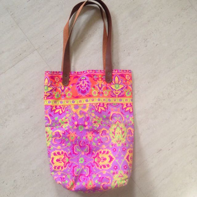 Bright Coloured Printed Tote Bag