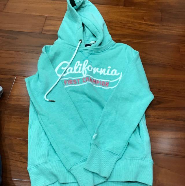 Caco California 薄荷綠刷毛連帽上衣 S