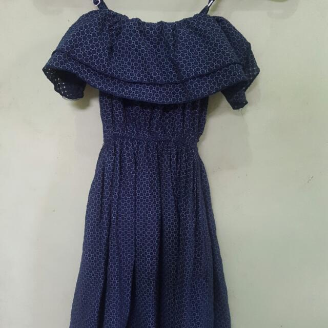 Cammomile Blue Dress (Dress Merk Cammomile)