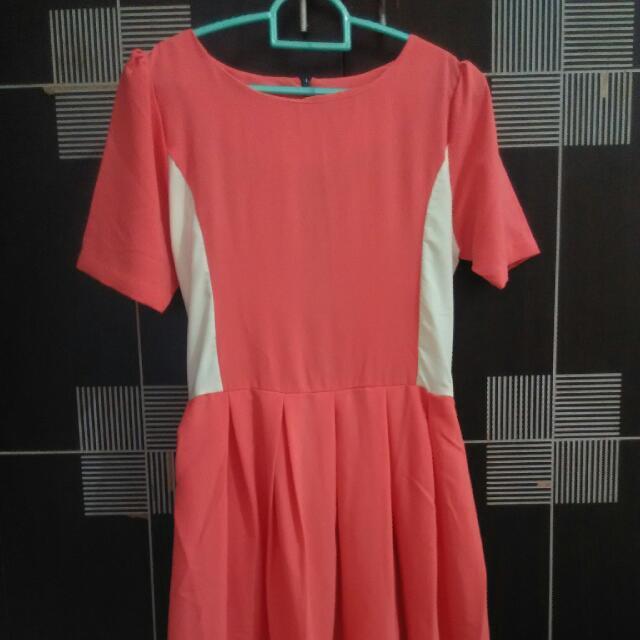 Casual Dress - Peach