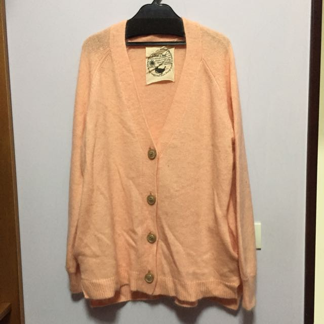 cocodeal粉色羊毛毛衣外套