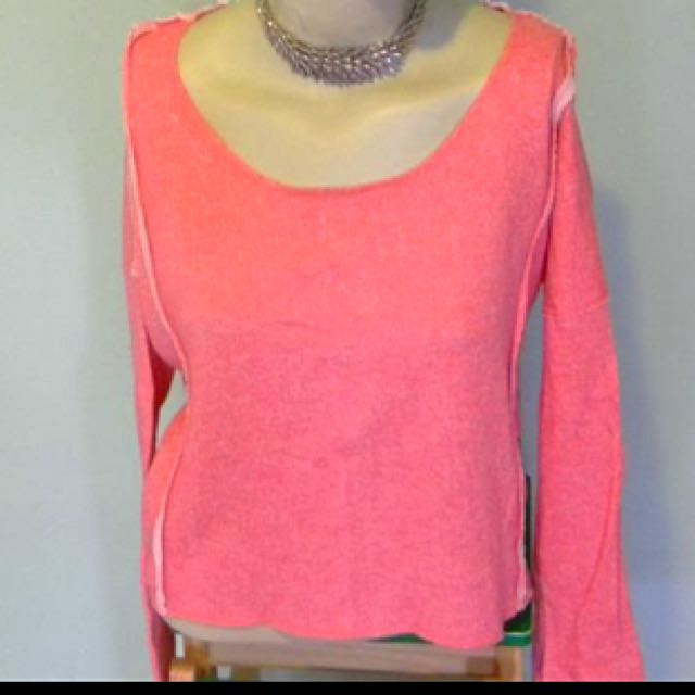 Coral/Pink Lace Back Detail Jumper