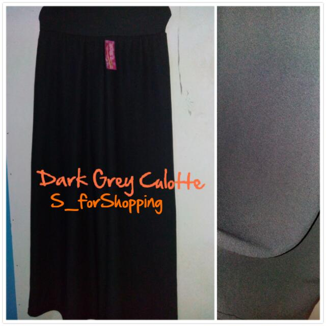 Dark Grey Culotte ( Long Culotte)