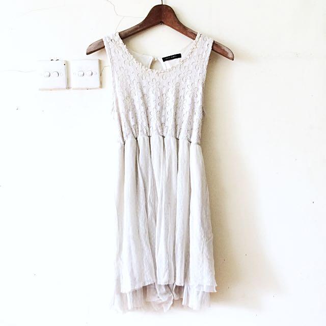 White Rustic Dress