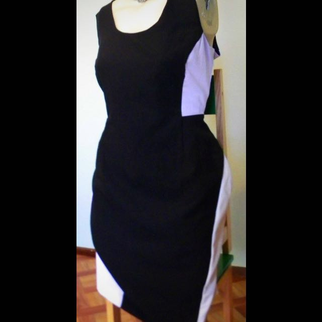 Ed-it-ed Brand Black And White Contour Dress