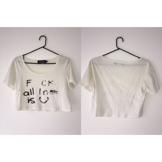 Evil Twin Crop Top Size Small