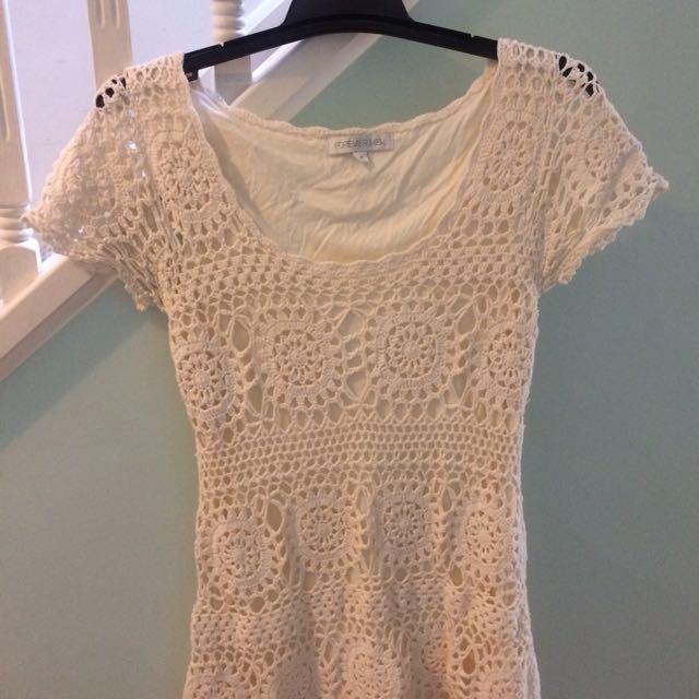 FOREVER NEW Crochet Dress s 10