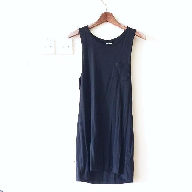 H&M Dark Grey Sleeveless Dress