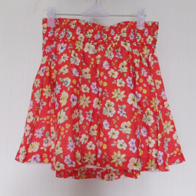 H&M Floral Flare Skirt (ori)