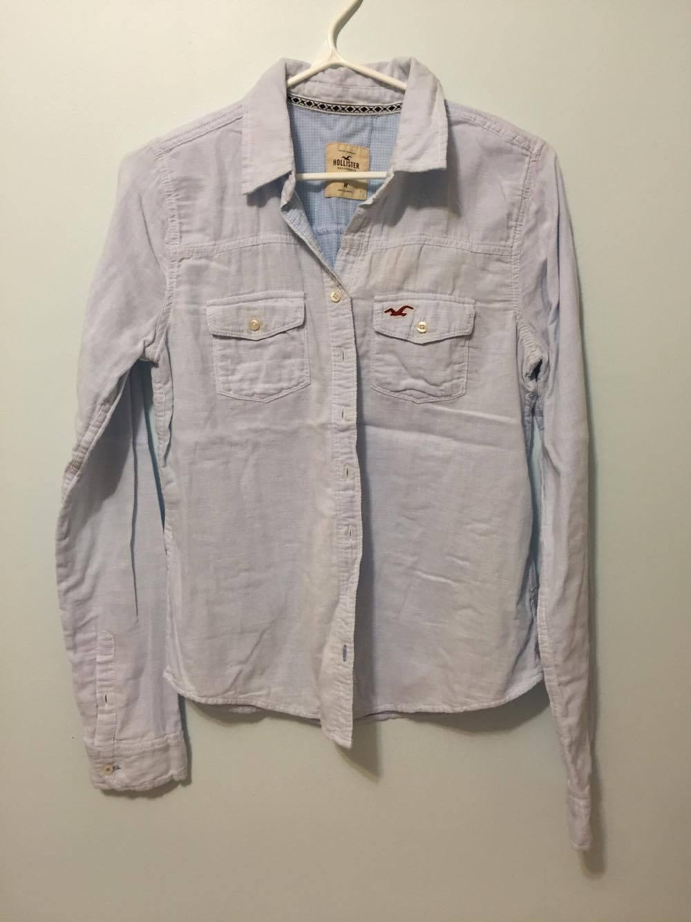 Hollister light blue shirt