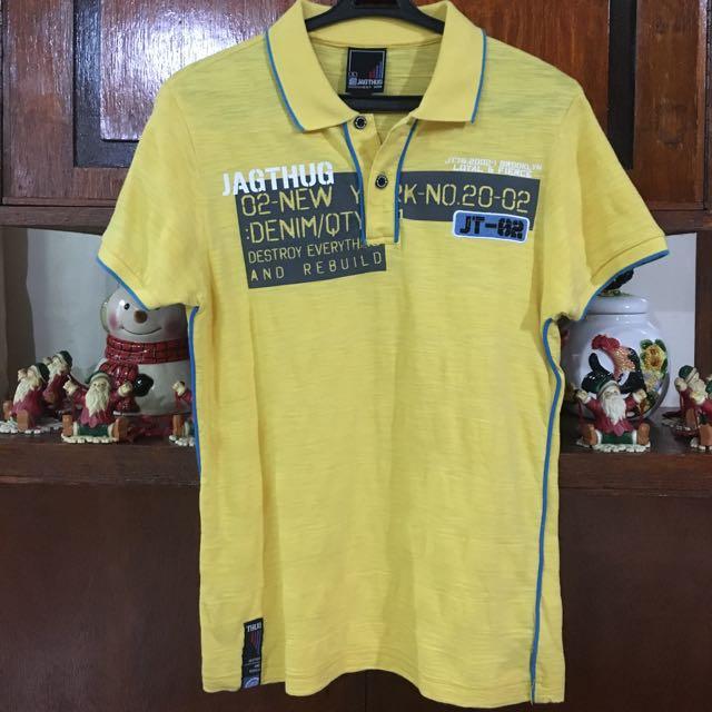👱🏻Jag Thug Yellow Polo Shirt