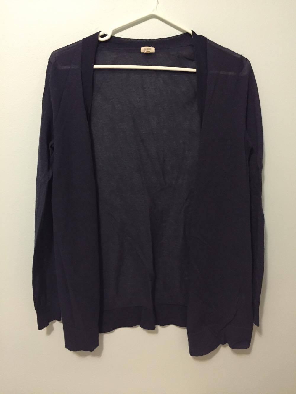 JCrew dark blue/purple cardigan