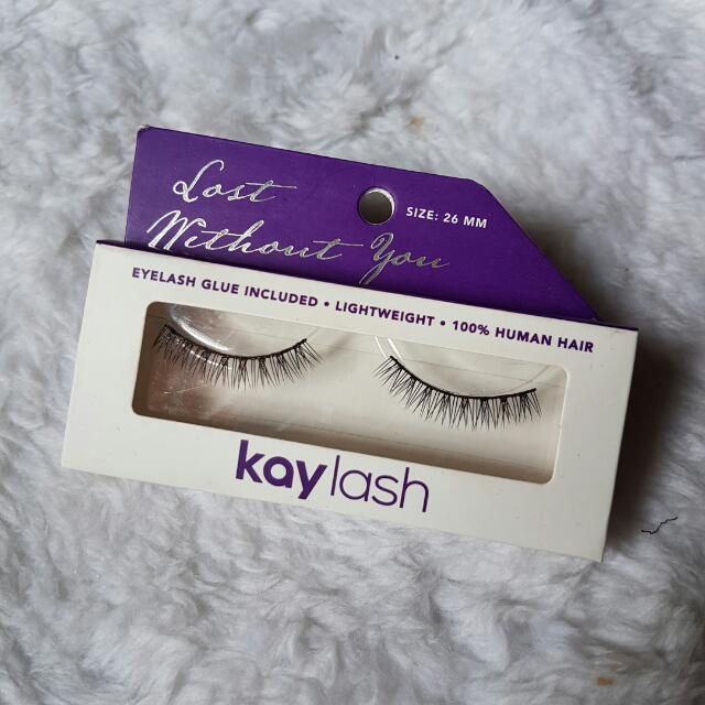 "Kay Lash 100% HUMAN HAIR - Bottom Eyelashes ""Lost Without You"" (Bulu Mata Palsu Untuk Bulu Mata Bawah)"