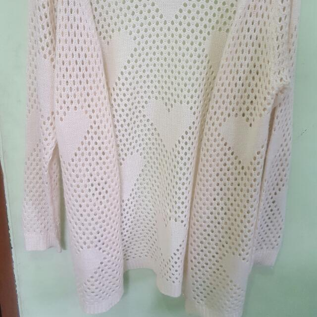 Lace Cardigan Outer (Unbranded) - Cardigan Outer Bahan Lace