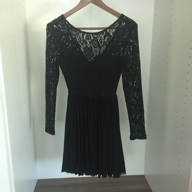 Lace Dress Black Size 6
