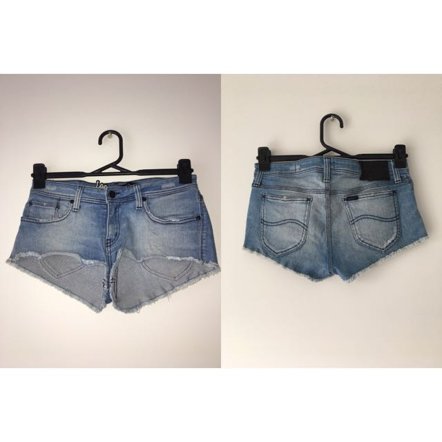 Lee Supa Short Denim Shorts Size 9