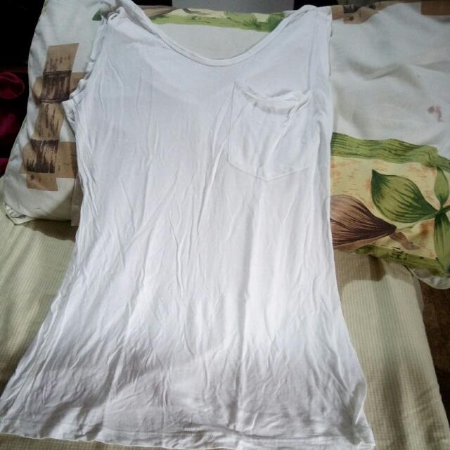 Maldita White Cotton Sleeveless size: Medium