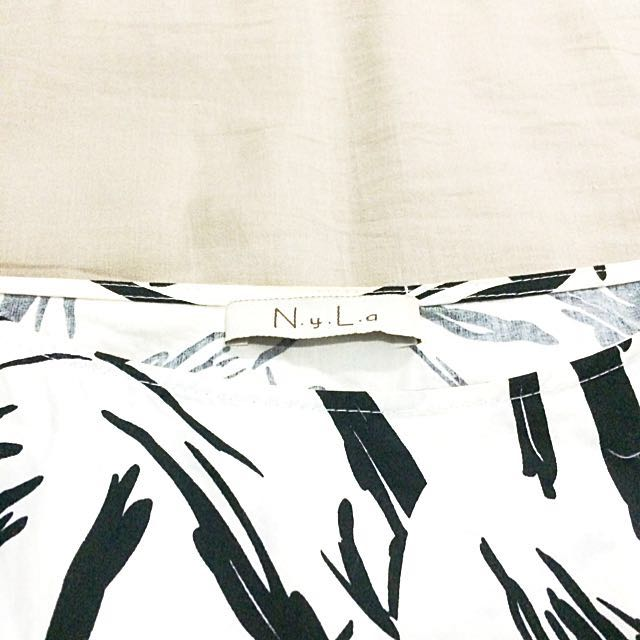 N.y.L.a B&W Abstract Dress