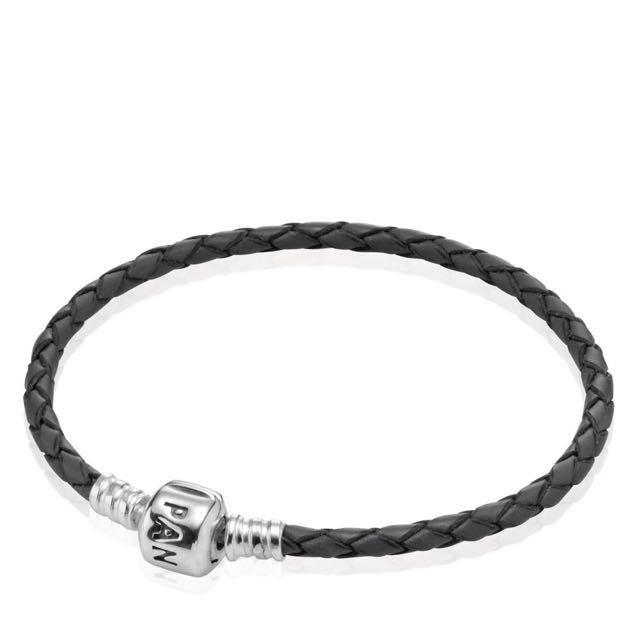 Retired Pandora Leather Bracelet Grey
