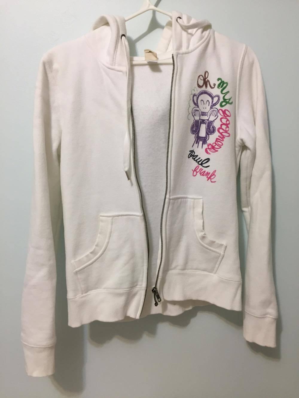 Paul Frank white zip hoodie