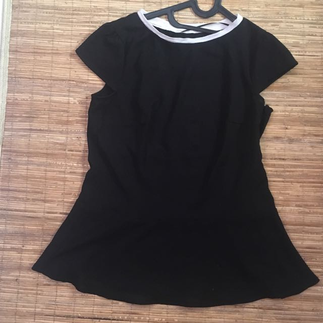 Peplum Top Black