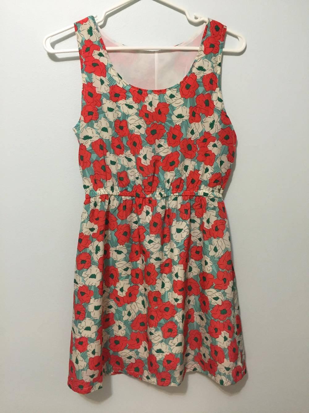 Poppy floral chiffon dress