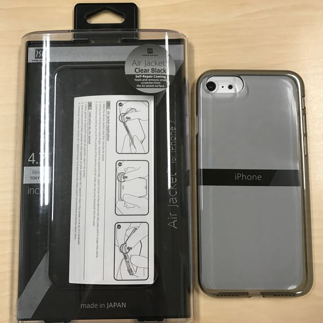official photos 6ab7f 6cdf2 POWER SUPPORT CLEAR BLACK AIR JACKET FOR iPHONE 7