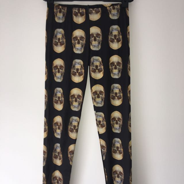 Pulp Kitchen Skull Leggings Size Small