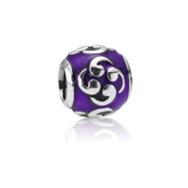 Retired Pandora Purple Zen Charm