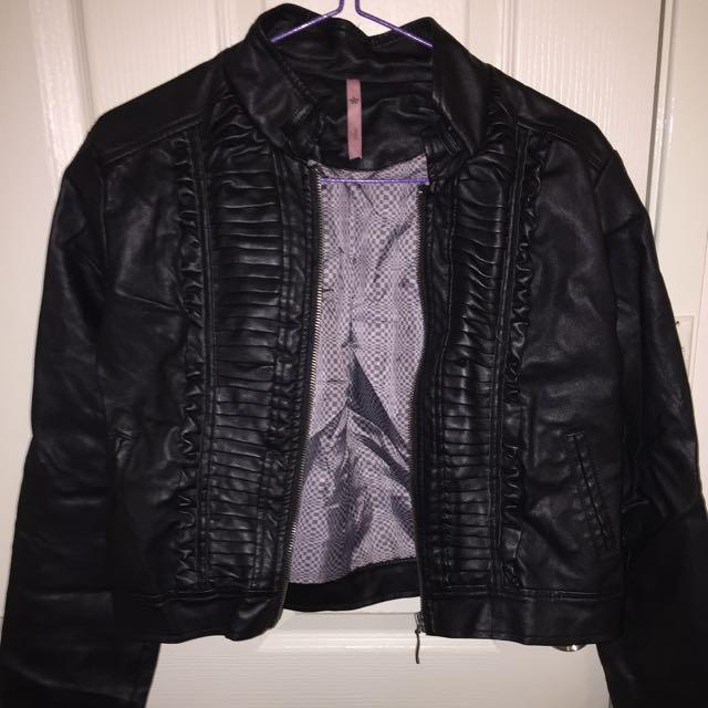 Sass Faux Leather Jacket