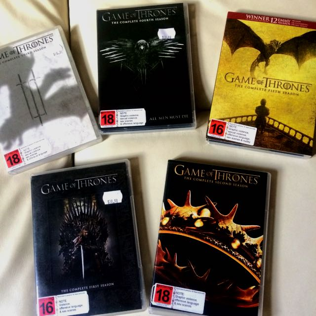 Season 1-5 Game Of Thrones DVDs