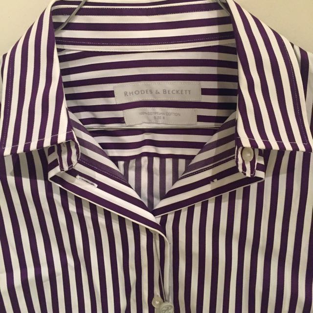 Shirt - Rhodes & Beckett - Purple Stripe