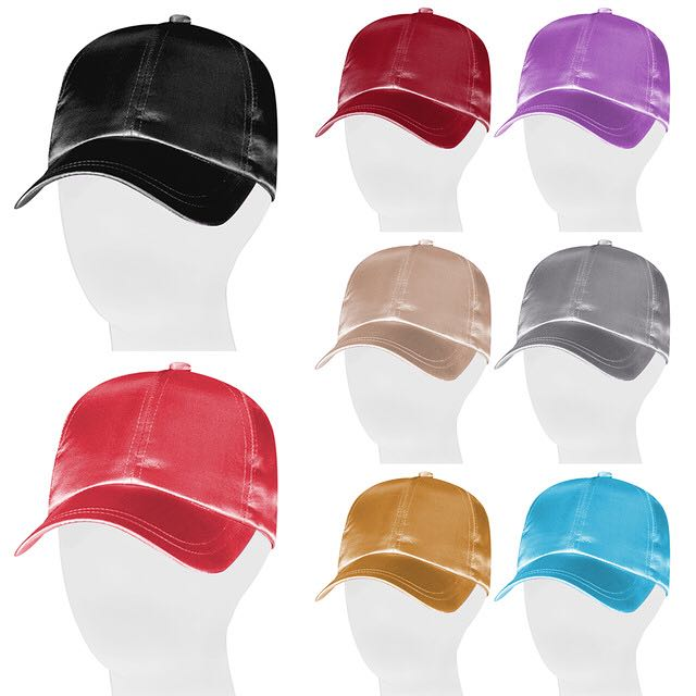 SILK / SATIN Baseball Cap ALL COLOURS Kylie Jenner Style