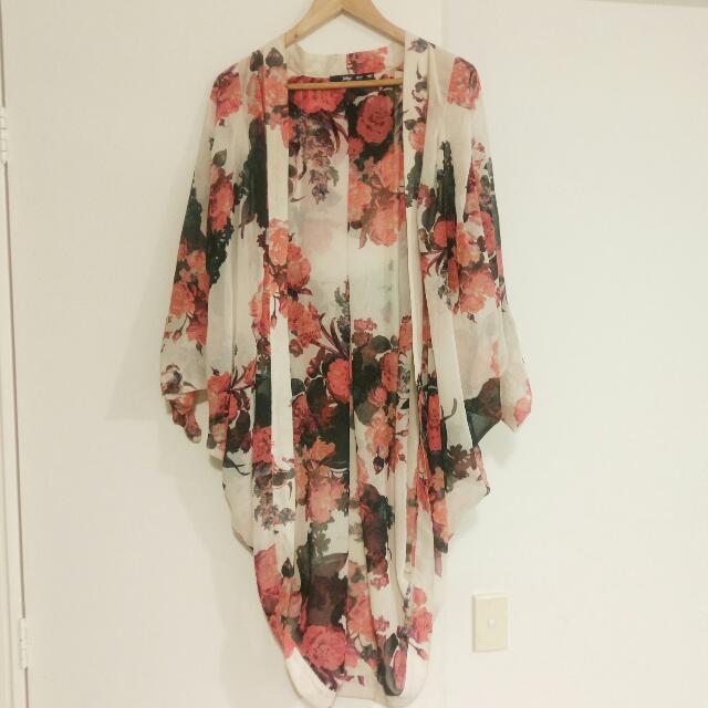 Sportsgirl Floral Kimono - One Size