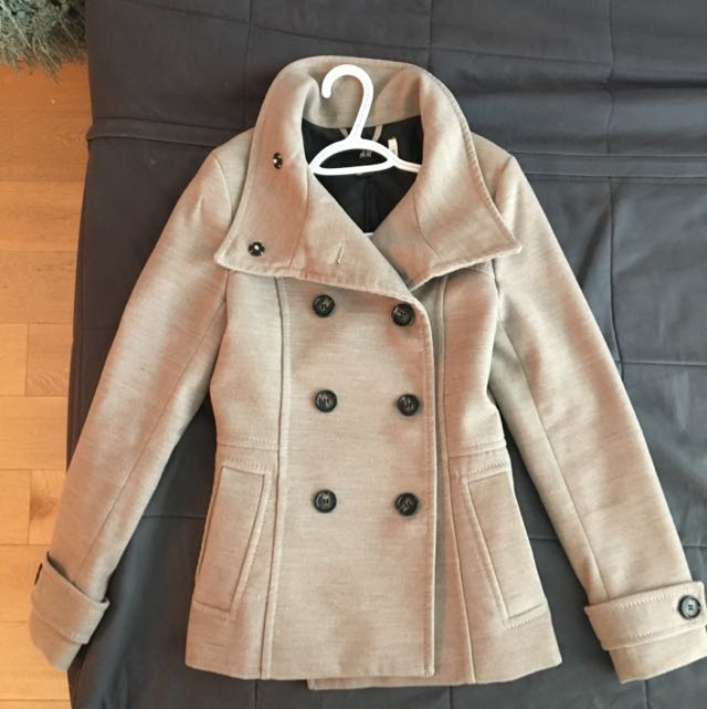 Tanned Coloured Peacoat