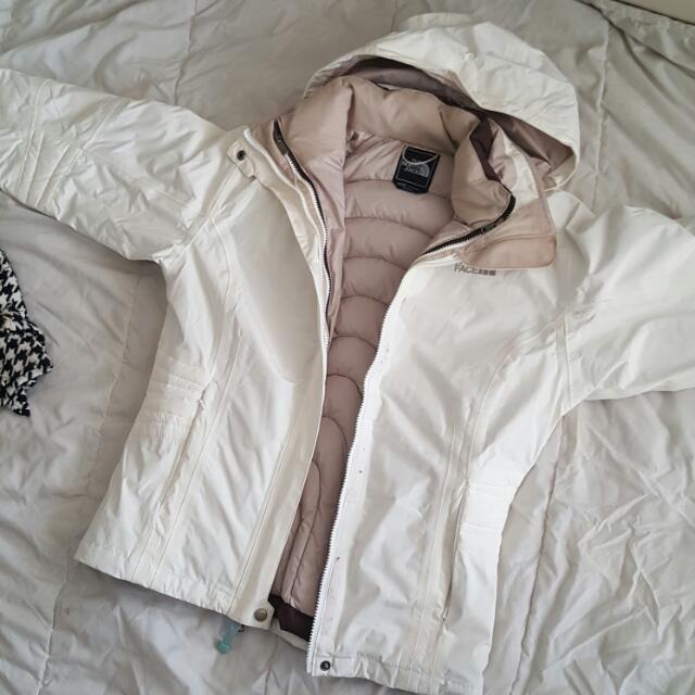 The North Face White And Brown Jacket.. Theres Two Jacket ..
