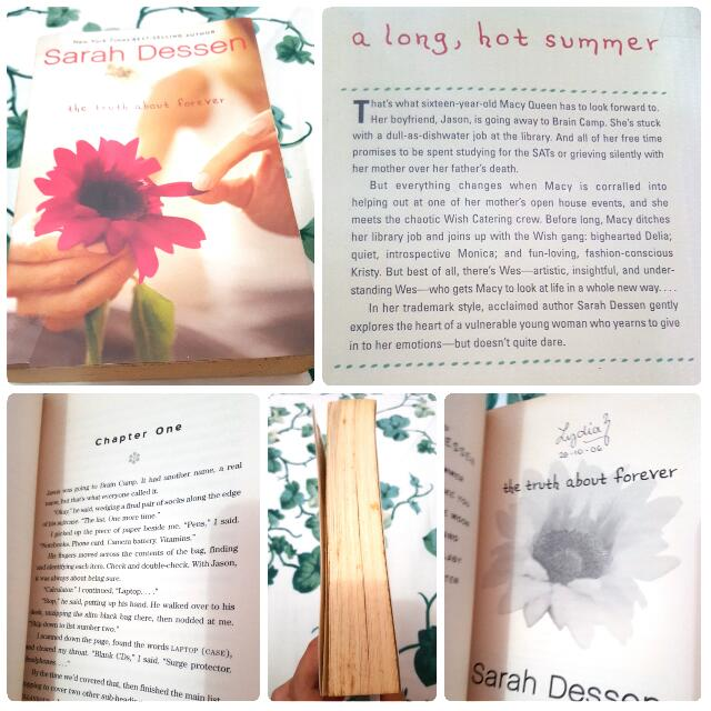 The Truth About Forever By Sarah Dessen (Free Shipping)