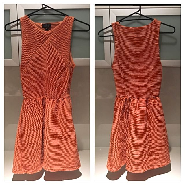 Topshop Orange Dress Size 8