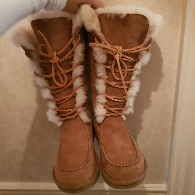 UGG Australia TALL Chestnut Boots With Box