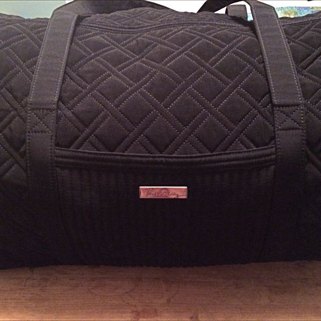 Vera Bradley, Large Black Quilted Duffle