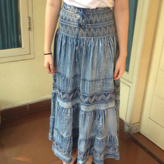 Vintage skirt (rok) panjang model etnik
