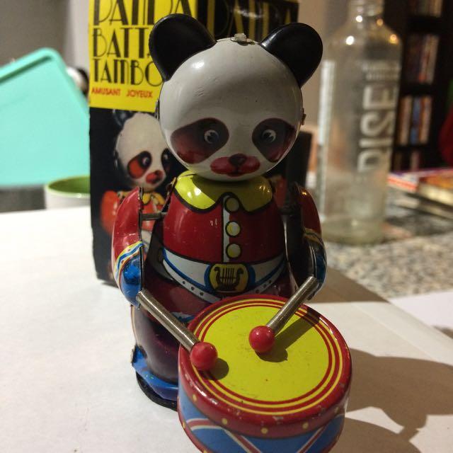 Vintage Wind Up Drummer Panda