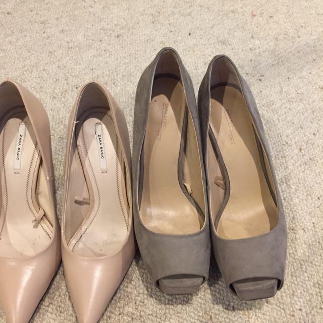 Zara Nudes Heels