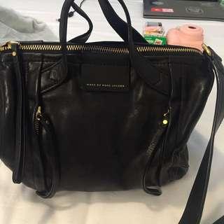Authentic Marc Jacobs Black Leather Handbag