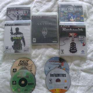 PS3 games & 2 Xbox Games
