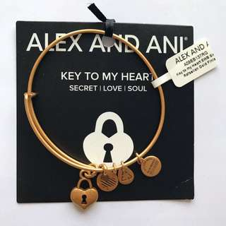 Alex And Ani Key To My Heart Charm Bangle