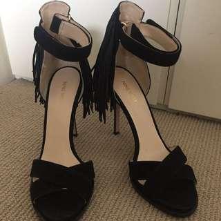 NINE WEST Black Hustle Heel