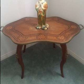 Ant french tray topped coffee side accent table negotiable