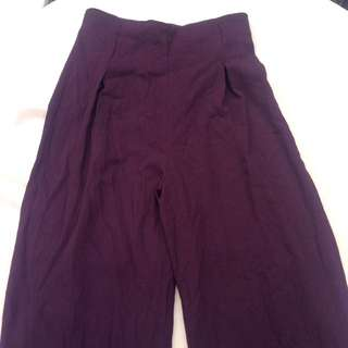 Size8 Brugendy Wine High Waist Pants