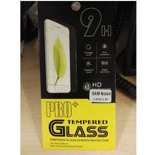 Tempered glass for Samsung Note 4